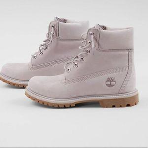 Custom lavender Timberland boots